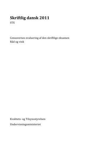 skriftlig eksamen i dansk stx