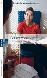 Patientens stemme – Ti år med brugerundersøgelser - Enheden for ...