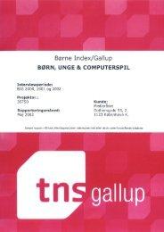 Hent TNS Gallup undersøgelsen som pdf-fil - Medierådet for Børn og ...