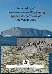 Monitering af lomviekolonierne Kippaku og Apparsuit i det nordlige ...