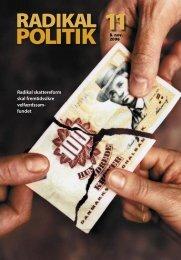 RADIKAL POLITIK 11-2006.indd - Radikale Venstre