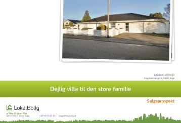 Dejlig villa til den store familie - Lokalbolig