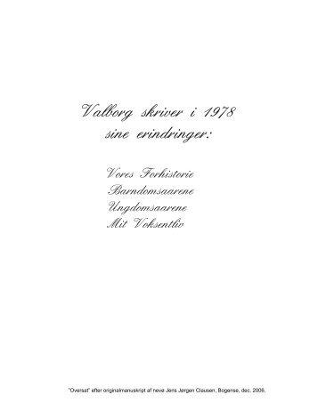 Valborgs erindringer - Tove Bisgaard og Jens Jørgen Clausen