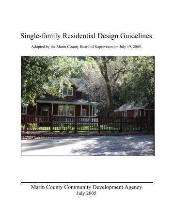 Single-family Residential Design Guidelines - County Home