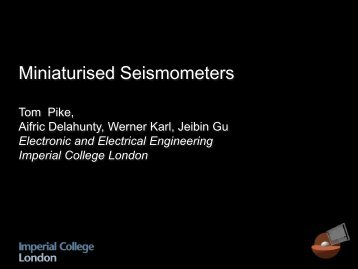 Miniaturised Seismometers - Science & Technology Facilities Council