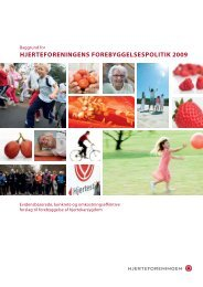 Baggrund for Hjerteforeningens forebyggelsespolitik 2009