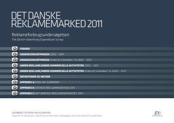 DET DANSKE REKLAMEMARKED 2011 - Danmarks Medie- og ...