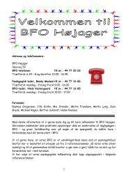 Adresse og telefonnumre: BFO Højager Skovvej 53 BFO telefonen tlf ...