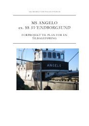 M/S Angelos restaureringsplan - Det Gamle Værft