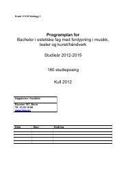 Vedlegg 1: Programplan - Høgskolen i Vestfold