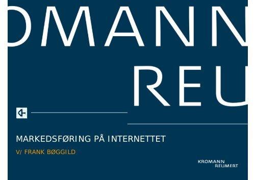 MARKEDSFØRING PÅ INTERNETTET - Kromann Reumert