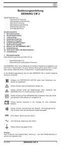 BENNING CM 2 - Page 6