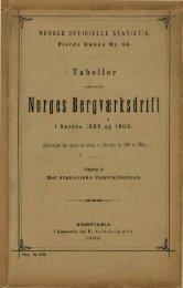 Tabeller vedkommende Norges bergværksdrift i Aarene 1899 og ...