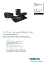 HTS6520/12 Philips 2.1 hjemmebiograf med Ambisound - Lomax