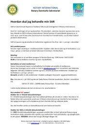 Hvordan skal jeg behandle min SAR - Rotary Danmark