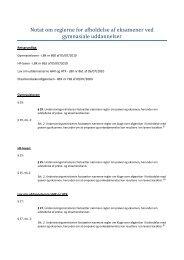 Notat om reglerne for afholdelse af eksamener ved ... - Diabetes.dk