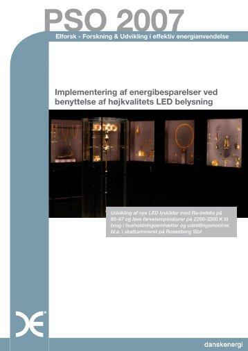 Implementering af energibesparelser ved benyttelse af ... - Elforsk