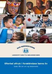 Efterlad aftryk i forældreløse børns liv - SOS Børnebyerne