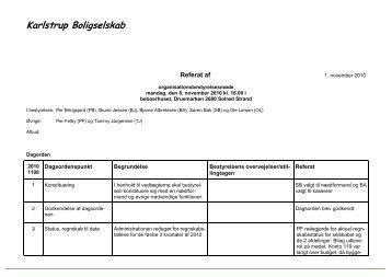Referat fra organisationsbestyrelsessmøde 08-11-2010 - Karlstrup ...