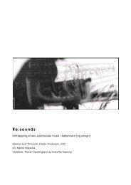 Re:sounds - Menneske.dk