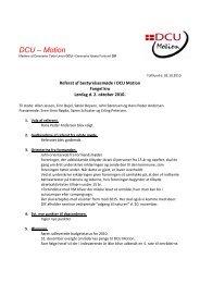 Referat - DCU Motion