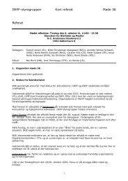 Referat af DEFF Styregruppemøde 36