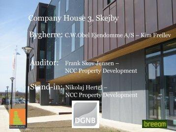 Certificering af NCC Company House v bygherre Nikolaj Hertel NCC