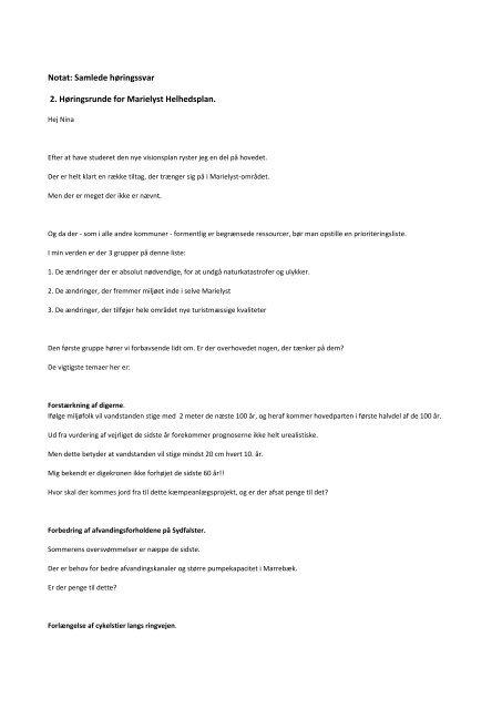 Samlede høringssvar fase 2 - Guldborgsund Kommune
