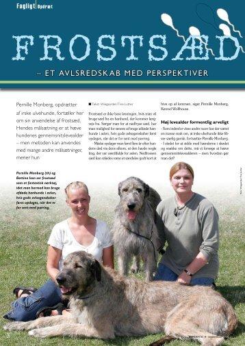 """Artiklen """"Frostsæd"""" fra HUNDEN september 2006"""