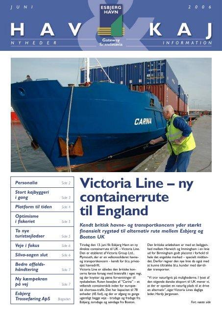 Victoria Line – ny containerrute til England - Esbjerg Havn