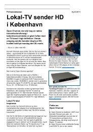 Bilag 1, AVM Lokal-TV sender HD i Storkøbenhavn ... - Kulturstyrelsen
