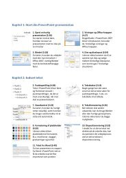 Kapitel 1: Start din PowerPoint-præsentation Kapitel 2: Indsæt tekst