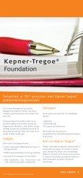 Download Kepner-Tregoe® Foundation - Service & Support Forum