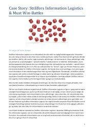 Case Story: Strålfors Information Logistics & Must Win ... - Changepilot
