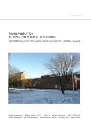 transformation af rindsholm mølle ved viborg - Rum - Arkitektskolen ...