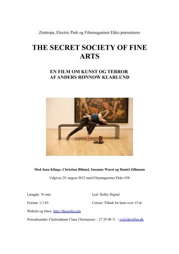 Pressemateriale til The Secret Society of Fine Arts - Ekko