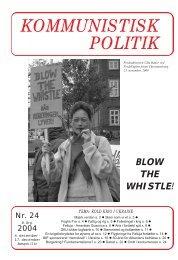 Kommunistisk Politik 24, 2004
