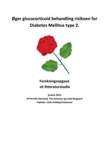 Øger glucocorticoid behandling risikoen for Diabetes Mellitus type 2.