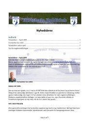 Nyhedsbrev - Hirtshals Boldklub Forside