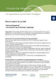 for organisationer og mennesker i bevægelse Arbejdsmiljølinien: 33 ...