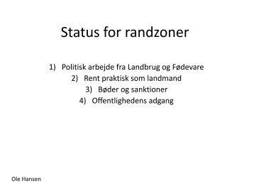 Status for randzoner - Landbocenter