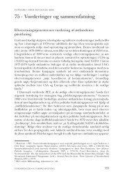 Kapitel 75. Vurderinger og sammenfatning - DIIS