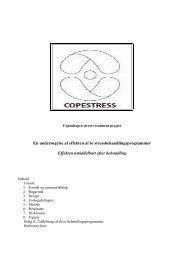 Rapport over Copestress-projektet - Bispebjerg Hospital
