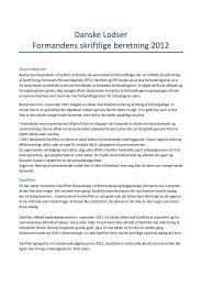Danske Lodser Formandens skriftlige beretning ... - Søfartens Ledere