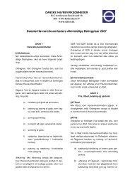 Danske Havnevirksomheders Almindelige Betingelser 2007 (DHAB ...