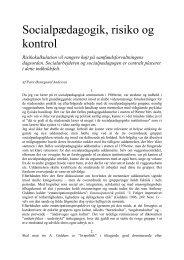 Peter Østergaard Andersen - Socialpædagogik, risiko og kontrol