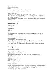 Opskrifter fra Munkebjergs kogebog - Bupl