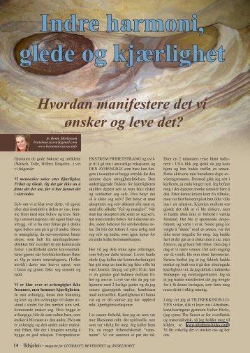 Indre harmoni, glede og kjærlighet - Ildsjelen