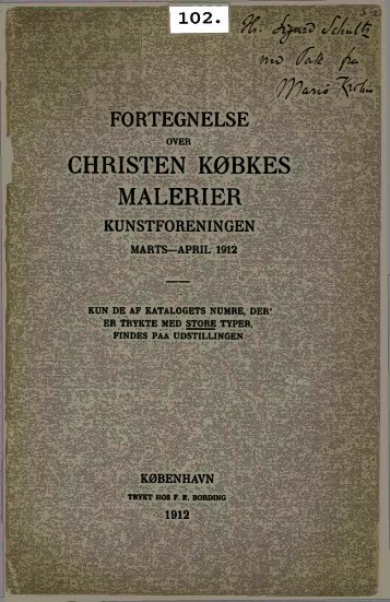 CHRISTEN KØBKES MALERIER