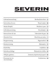 Libretto di istruzioni della Severin BM3992 - Macchina del Pane